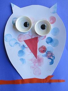 O for owl.easy owl craft for kids. Owl Crafts, Animal Crafts, Cute Crafts, Paper Crafts, Easy Crafts, Projects For Kids, Diy For Kids, Crafts For Kids, Arts And Crafts