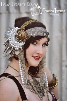 Artemis a Tribal Fusion bellydance head by BenneGezerittDesigns