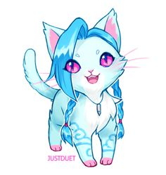 Jinx cat, by JustDuet