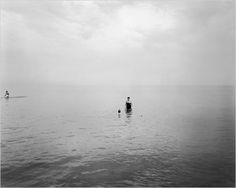Harry Calllahan  'Eleanor and Barbara, Lake Michigan'  1953. We saw this photo at the PMA and i learned that he photographed them from far away so that the viewer is compelled to look closely and attentively at the family with as much care and interest as the photographer himself saw them.