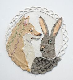 Elizabeth Loveday Etsy Shop Little Bunny Foo Foo, Some Pictures, Textile Art, Hand Stitching, Fiber Art, Folk Art, Needlework, Weaving, Textiles