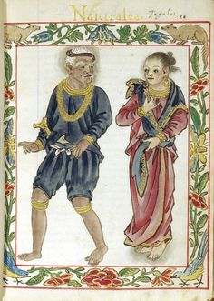 Depiction of a pre-colonial noble Filipino couple in the Boxer Codex.#FilipiKnow #Precolonial #Philippines
