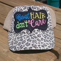 5a800c746e0 Trucker Hat Boat Hair Don t care Distress by Prettyinpinkbiz Boat Hair