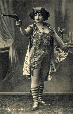 Carnival Performer Elly del Sarto, c. 1910