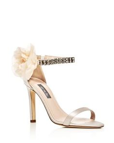 be326ca4d1a SJP by Sarah Jessica Parker Leila Embellished Satin High-Heel Sandals -  100% Exclusive Shoes - Bloomingdale s