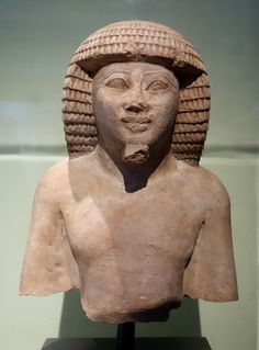 Statue of a prince of Tekhet,a district in Nubia (present-day Sudan).The prince is depicted in traditional Egyptian fashion c.a. 1479-1400 B.C. 18th Dynasty, New Kingdom. •Brooklyn Museum•
