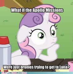 Conspiracy Sweetie Belle. Did I mention how much I love the fact that this is a real meme?