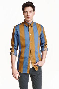 Block-striped cotton shirt | H&M