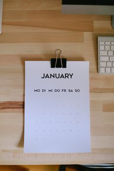 Printable Wall Calendar 2017 by hallokalendarium on Etsy