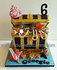 Pirates & Princesses Treasure Chest cake