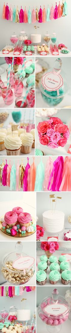 Tassel garland, cupcakes, awesomeness