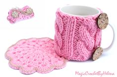 Hey, I found this really awesome Etsy listing at https://www.etsy.com/listing/214225219/cozy-hug-mug-with-trivet-knitted-sleeve