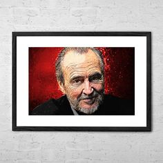 Wes Craven - Illustration - Film Director - Horror Art - Wes Craven Poster - Horror Movie - Horror Decor - Dark Art - Movies - Film Poster