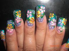 Garden nail decoration