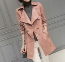 d95731t autumn new style slim suede women jackets dust trench long coats  Best Buy follow this link http://shopingayo.space