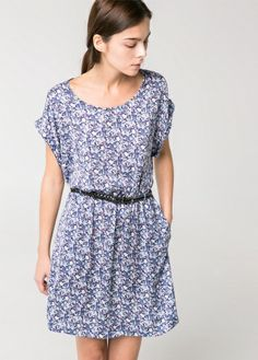 Braided belt dress