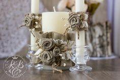 Εξατομικευμένη Γάμος Κερί Ρουστίκ Γάμος Ενότητας Τελετή