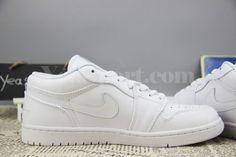 Air Jordan 1 Retro Low White Leather