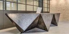 Image result for polished concrete reception desks