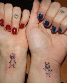 Super Cute Friendship Tattoo