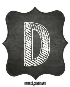 Printable_Chalkboard_ Letter_D