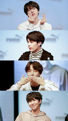 180408 BTS Puma Fansign Hyung Line #Jin #Suga #J-Hope #RM