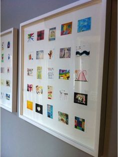 Scan childrens art work and then print out in smaller size.