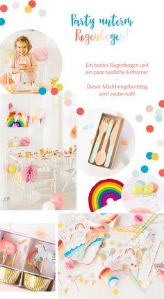 Kindergeburtstag: Einhorn Party unterm Regenbogen - Hochzeitsblog Fräulein K. Sagt Ja