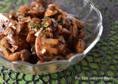 Balsamic Garlic Mushrooms Recipe from Hot Eats and Cool Reads