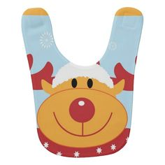 Christmas Reindeer Baby Bib #Reindeer #Christmas #Bib #Baby