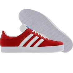 Adidas Gazelle 2 (light scarlet / white / metallic gold) V24415 - $64.99