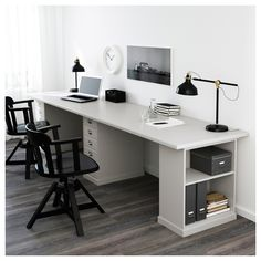 So make sure you design your home office exactly how you want from the perfect colors, . See more ideas about Desk, Home office decor and Home Office Ideas. Ikea Home Office, Home Office Setup, Guest Room Office, Home Office Space, Home Office Furniture, Office Decor, Office Ideas, Office Designs, Office Table