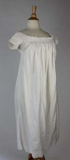 """Antique White Cotton Chamise with Floral Embroidery 
