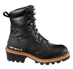 8-Inch Logger Boot (Black)/Safety Toe