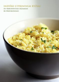 Lemon-Sesame Seed Rice (In Lithuanian. Google Translate works well, though.)