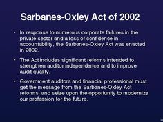 Sarbanes-Oxley summary