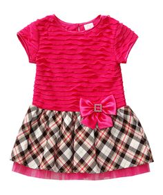 Look at this #zulilyfind! Youngland Fuchsia Plaid A-Line Dress - Infant & Girls by Youngland #zulilyfinds
