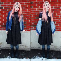 Thrifted Jacket And Leggings, Forever 21 Skirt, Cruella Cobweb Shirt