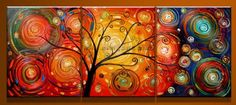 3 canvas spiral tree with dynamic celestial spheres $106 and free shipping -- Framed Modern Abstract Huge Canvas Art Oil Painting EG3 127-in Painting & Calligraphy from Home & Garden on Aliexpress.com