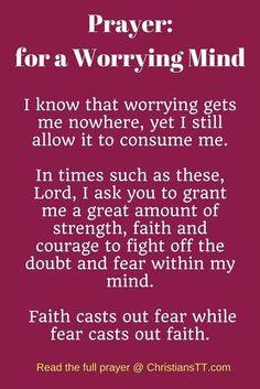 Warfare Prayer for a Worrying Mind