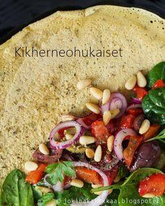 Jokihaka Kokkaa | Valokuvia, ruokaa ja reseptejä: Ohukaiset kikhernejauhoista