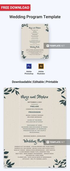 Free event program invitation free program templates pinterest free wedding program maxwellsz