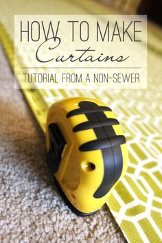 Sewing Curtain How to make curtains. Learn how to make curtains from a non-sewer for a non-sewer. Check out this simple tutorial! - Learn how to make floor length panel curtains. A tutorial from a non-sewer for a non-sewer. Sewing Hacks, Sewing Tutorials, Sewing Crafts, Sewing Projects, Projects To Try, Sewing Tips, Sewing Ideas, Tutorial Sewing, Sewing Box