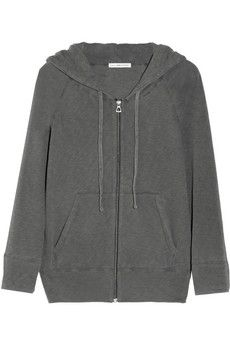 James Perse Hooded cotton French terry top | NET-A-PORTER