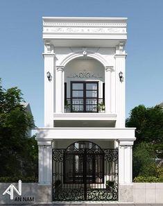 Classic House Design, Duplex House Design, Townhouse Designs, House Front Design, Minimalist House Design, Small House Design, Small House Exteriors, Dream House Exterior, Architecture Building Design