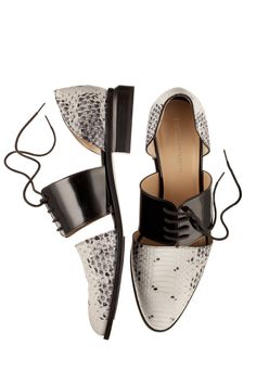"Emporio Armani lace-ups - love these if i had a ""spring"" and a ""real job"" i would wear these - but alas i wear flip flops 365"