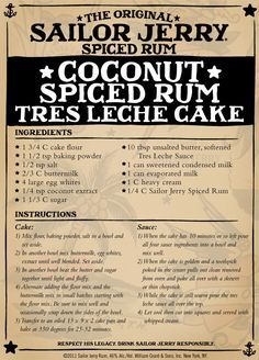 4. Coconut Spiced Rum Tres Leche Cake