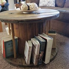 We have a cable spool we need to repurpose and I love this idea!