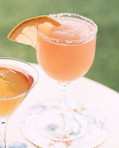 Pink SaltyDog- Gin and Pink Grapefruit Juice