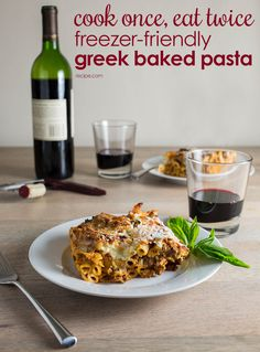 The only thing better than amazing baked pasta is amazing baked pasta you can freeze for later. #greekpasta #bakedpasta